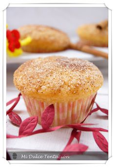 Muffins con sabor a donuts