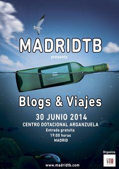 MadridTB va a celebrar su primera charla viajera en vivo y en directo el próximo 30 de Junio en el Centro Dotacional de Arganzuela, en Madrid. Tendremos 5 amigos e invitados de lujo: Dany y María de @Lega Traveler (Blog de viajes), Sara y JAAC de @SaltaConmigo e Iosu López en representación de @Mochileros TV. ¿Mola o no mola el plan?  Toda la información en:  http://madridtb.com/madtb-madrid-travel-bloggers-presenta-blogs-viajes/