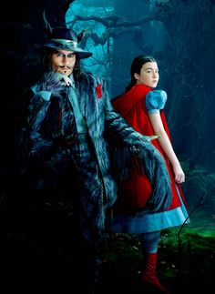 Net Image: Into the Woods - Promo Photos Johnny Depp stars as The Big Bad Wolf and Lilla Crawford stars as Little Red Riding Hood in Walt Disney Pictures' Into the Woods Photo ID: . Picture of Johnny Depp - Latest Johnny Depp Photo. Colleen Atwood, Tim Burton, Disney Channel, Movies Showing, Movies And Tv Shows, Lilla Crawford, Into The Woods Movie, Walt Disney, Disney Live