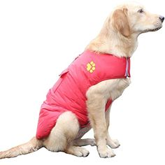 Hiado Dog Coat Jackets Winter Cold Weather with Velcro Closure and D-ring for Winter Xxl Red * Be sure to check out this awesome product. (This is an affiliate link) #DogApparelAccessories