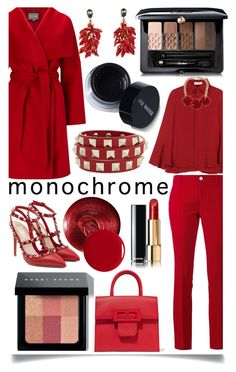 """""""Monochrome Red"""" by ittie-kittie ❤ liked on Polyvore featuring Christian Dior, Gucci, Valentino, Phase Eight, Maison Margiela, Guerlain, Bobbi Brown Cosmetics, Chanel, Givenchy and Marni"""
