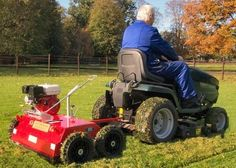Towable and pushable rotary raker/lawn scarifier. Towable scarifying rake for removing moss and thatch from your lawn or fields. Lawns and horse paddocks benefit from scarifying ensuring healthy grass growth.  For more info: http://www.fresh-group.com/scarifying-rakes.html