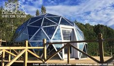 6m Glass dome house - Living dome homes for sale - Geodesic glass dome with aluminum door - Glamping domes for sale - Garden igloo geodesic dome - Igloo hotel - Glass dome hotel - Shelter Dome (4)