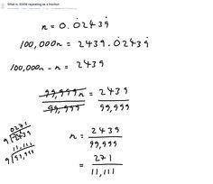 Fraction problem (Repeating decimal)