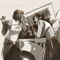 You think Korra would be able to mechanical fix a car like Asami or break it much much worse? Answer: Asami would take over before Korra decimated the poor machine. Korra Avatar, Team Avatar, Aang, Sasameki Koto, Avatar Series, Fire Nation, Comic Panels, Cartoon Games, The Legend Of Korra