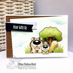 Your Next Stamp: Funny Forest Critters Crew stamp and Stitched Grass die #yournextstamp