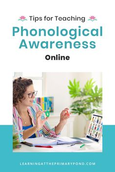 Teaching phonological awareness virtually isn't quite the same as in-person instruction. But it's still possible – AND still important! If you could use some tips to make your online phonological awareness instruction easier, check out today's new blog post. Kids Learning Activities, Home Learning, Learning Resources, Phonemic Awareness Activities, Phonological Awareness, Phonics Lessons, Cvc Words, Word Families, Teaching Reading