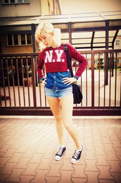 Bluzka - New Yorker Koszula - Jeans Live Denim Spodenki - Top Shop Buty - New Yorker