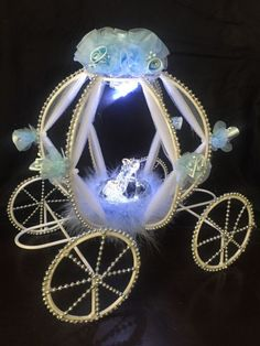 Cinderella Carriage Centerpiece Quinceanera wedding Baby Shower princess Fairyta