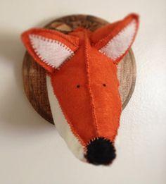 Felt fox faux animal