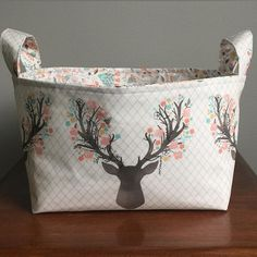 @watchmydive - And now in TULIP  #watchmydive #basket #deer #antlers #deer #fawn #stag #aspen #hawthornethreads #babydeer #baby #etsy #etsyseller #etsyshop #etsyfinds #etsybaby #nursery #woodland #forest #shoplocal #shopsmall #handmade