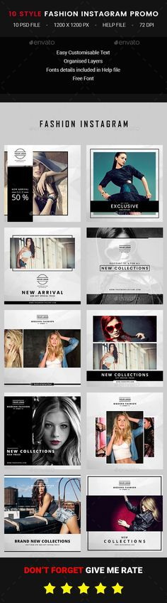 10 Instagram Fashion Post - Banners & Ads Web Elements