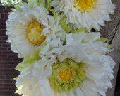 Conjunto de 3 flores de papel gigante - perfectas decoraciones para boda, fiesta de cumpleaños & Baby Shower
