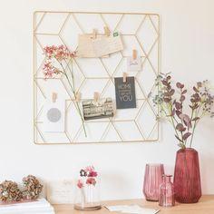 Gold Metal Photo Montage Frame on Maisons du Monde. Office Workspace, Office Decor, Craft Stick Crafts, Diy Crafts, Easter Crafts For Kids, Girl Room, Room Inspiration, Bedroom Decor, Gallery Wall