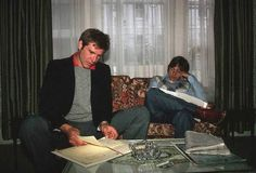 Harrison Ford and Mark Hamill read the script for The Empire Strikes Back.