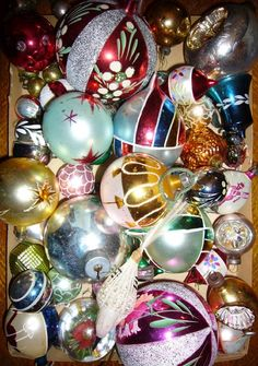 My mother has a collection of ornaments from the 50's - 70's.