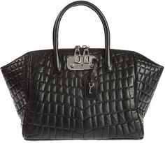 99cd79736fa5 Textured Leather Bag - Lyst Black Leather Bags