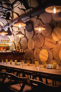 Interior design Restaurant Murals, Shustov Brandy Bar by Belenko Design Band in Odessa, Ukraine Interior Design Bar Restaurant, Brewery Design, Deco Restaurant, Wine Bar Design, Pub Design, Cellar Design, Luxury Restaurant, Bar Interior, Luxury Interior