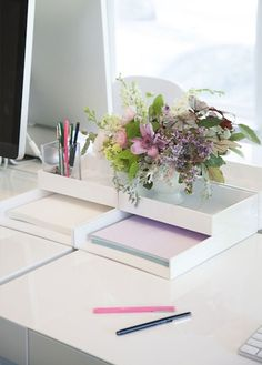 13. Paper Organizer: Using a organizer like this is essential if you need paper at your fingertips. (via Style Me Pretty)