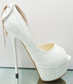 white wedding high heels - Buscar con Google | Pure white ...