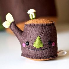 Mr Tree Stump Pincushion Plush from Hi Tree