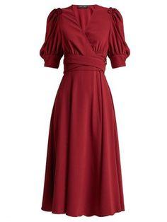 Ruffled crepe wrap dress   Proenza Schouler   MATCHESFASHION.COM