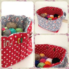 Reversible crochet basket