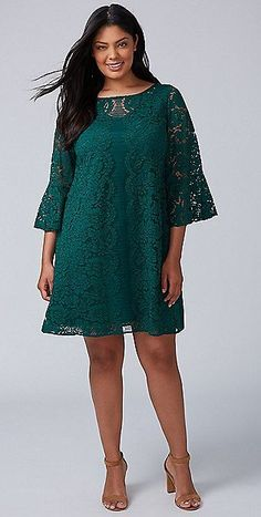 33 Plus Size Wedding Guest Dresses {with Sleeves} - Plus Size Cocktail Dresses - Plus Size Wedding Dresses With Sleeves, Dresses For Apple Shape, Cocktail Dresses With Sleeves, Best Wedding Guest Dresses, Plus Size Cocktail Dresses, Lace Dress With Sleeves, Plus Size Party Dresses, Dress Wedding, Plus Size Skater Dress