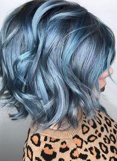 vibrant blue hair color