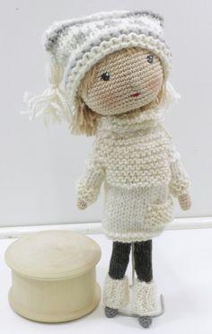 Вязаная кукла Саша - Магазин Лавочка Подарков