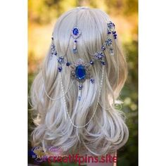 Mayflower Goddess Circlet Make an entrance to remember in this beautifully uniquely enchanting bridal circlet design in shades of sparkling Head Jewelry, Cute Jewelry, Body Jewelry, Hair Accessories For Women, Fashion Accessories, Grey Wig, Gray Hair, Circlet, Fantasy Jewelry