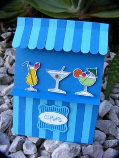 beach bar by Kiwi Jules on SCS. Market card with Stampin Up set.