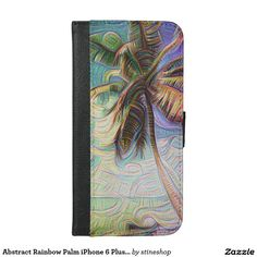 Abstract Rainbow Palm #iPhone6 Plus Wallet Case #sold on #zazzle