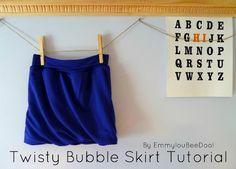 Twisty Bubble Skirt - Tutorial Variation
