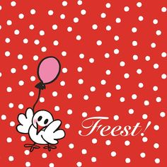 Wenskaart   Feest   Jarig www.hipenstipkaarten.nl