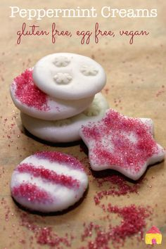 Yummy gluten free Peppermint Cream recipe with no egg. Great vegan Chrsitmas recipe! Easy to make with kids.