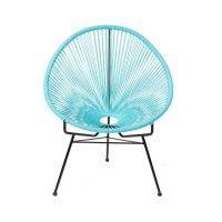 Stoel Caminha Turkoois  #stoel #fauteuil #woontrend #woontrend2016 #wonen #trends #turkoois #ovaal #rond #scandinavisch #rondezitting #metaal #binnen #buiten