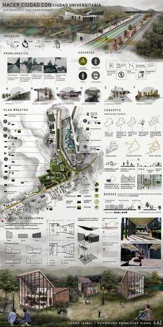 Architecture presentation - urban planning - presentation ädtebau architecture p Concept Board Architecture, Architecture Presentation Board, Cultural Architecture, Architecture Graphics, Landscape Architecture, Architectural Presentation, Drawing Architecture, Architecture Diagrams, Classical Architecture