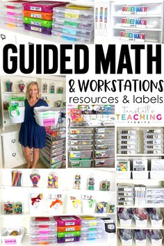Guided Math and Workstation Resources - Tunstall-s Teaching Tidbits Math Classroom, Kindergarten Math, Teaching Math, Math Math, Math Teacher, Preschool, Math Fractions, Teacher Tools, Future Classroom