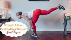 Fast Standing Workout: Strength and Power: Dumbbells + PLYO Interval Exercises - YouTube Melissa Bender, Workout Schedule, Total Body, Strength, Health Fitness, Exercise, Youtube, Workouts, Ejercicio