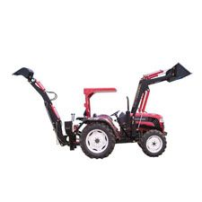 A backhoe is a piece of excavating equipment with a digging bucket at the end of a two-limbed arm. This is similar to an excavator, but there are a few keys differences. A backhoe is attached to separate vehicle. An excavator has its own chassis.