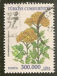 Turkey Scott 2805 Plant, Flora Used -