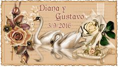 Tarjeta para las fofuchas novios de Diana  y Gustavo