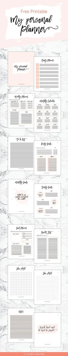PERSONAL PLANNER | FREE PRINTABLE