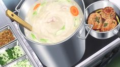 Broth, char siu pork, and other toppings for ramen! Shokugeki no Souma, Episode 13