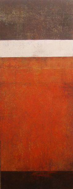 """""""Red Tier"""" by artist Rebecca Crowell: Referencing layers of earth and rock. Take her Oil and Wax workshop at Cullowhee Mountain ARTS Summer 2013 http://www.cullowheemountainarts.org/week-2-june-23-28/rebecca-crowell-oil-and-wax-abstract-painting-with-cold-wax-medium#sthash.e7Mev9ph.dpbs"""