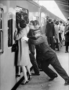 """""""Pushers"""" Tokyo's Shinjuku station during rush hour, Dec. 67'. They pack as many in as possible. Hello! 2012 they STILL DO!! Usually with a long stick to push you in. I actually love Japanese trains. They are clean and punctual."""