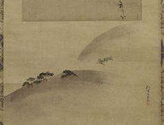 Sakai Hoitsu | Landscape Painting Landscape Paintings, Stones, Landscape Drawings