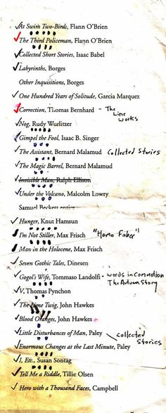 Syllabi from famous authors