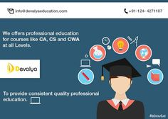 Devalya Education is such an institute who provides CA Final Coaching in Gurgaon which is one of the toughest job. But they teaches in such a way that a student doesn't feel burdened or get stressed. They conduct proper test series so that student can realize what he/she has learnt.